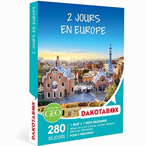 Dakotabox - Coffret Cadeau Couple - 2 Jours en Europe - idée Cadeau - Une Nuit avec Petit-déjeuner pour 2 Personnes