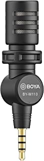 BOYA M110 Mini Omnidirectional 3.5mm TRRS Condenser Microphone for Android iPhone Smartphone Laptop Tablet Vlogging Broadc...