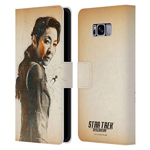Head Case Designs sous Licence Officielle Star Trek Discovery Philippa Georgiou Grunge Personnages Coque en Cuir à Portefeuille Compatible avec Samsung Galaxy S8+ / S8 Plus