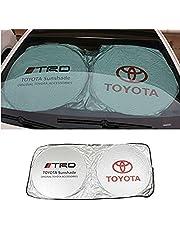 SHIYISHOU 150X70cm Car Window Sun Shade Car Windshield Visor Cover Block Front Window Sunshade UV Protect Car Window Film (toyota)