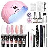 Modelones Poly Extension Gel Nail Kit - 6 Colors...