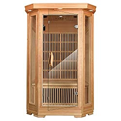 MRNIU 2-Person Saunas Steam Sauna Far Infrared Sauna Indoor Sauna Heater Portable saunas for Home with 8 Carbon Heaters