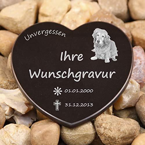 LASERfein Edles Gedenkherz, Sternenkind, Gedenkstein 12x12cm, mit Gravur