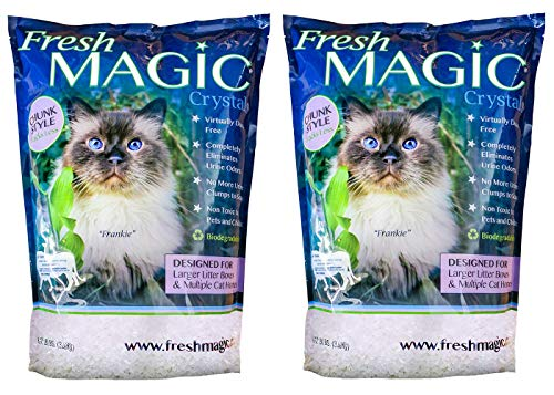FreshMAGIC Large Chunk Style Crystal Cat Litter, 8 lb. Bag, 2-Pack