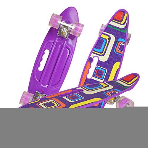 Skateboard Vier Fahrbares Kreatives Buntes Einzelnes Skateboard