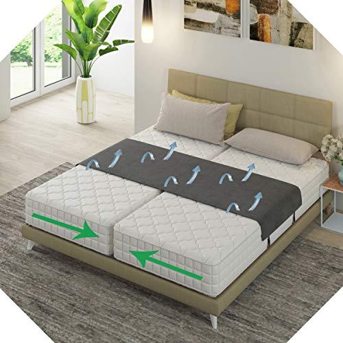 Liebesbrücke Für Matratzen schwarz von Bedbinders | Universell | Verbindet zwei Matratzen zu einer großen Liege-Fläche | Beenden Sie das Verrutschen mit dieser Matratzenhalter