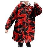 Kanpola Ropa de Abrigo Suelta de Moda para Mujer Chaquetas Acolchadas de algodón Abrigos con Capucha de Bolsillo