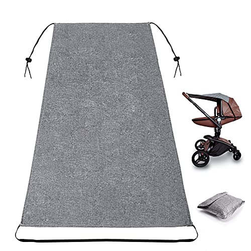 Universale con Telo Parasole per Carrozzina, Protezione Solare per Passeggino, Capottina parasole per passeggino, Regolabile con Protezione UV (Grigio)