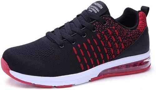 paniers pour hommes, hommes, Chaussures de randonnée décontractée Printemps Nouveauté Chaussures de sport en coussin d'air pour hommes, Chaussures de course en plein air, Chaussures de voyage tissées volantes