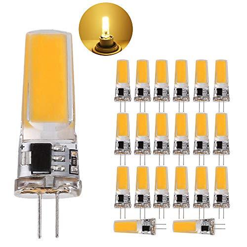 G4 LED Lampen, 5W LED Birnen Ersetzt 50W Halogenlampen, (2700-3000k)Warmweiß 500lm 220 AC LED Leuchtmittel, 360 Grad G4 LED Birne, Nicht Dimmbar,Stiftsockellampe Glühbirnen, 20er Pack