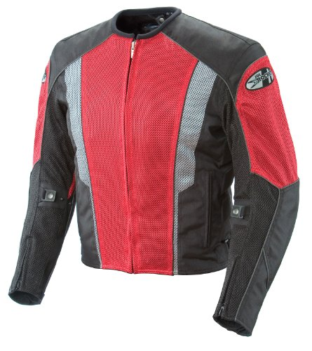 Joe Rocket Phoenix 5.0 Men's Mesh Motorcycle Riding Jacket (Red/Black, Medium)