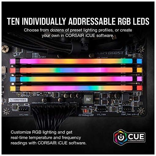 Corsair VENGEANCE RGB PRO 32GB, 2x16GB, DDR4 3200MHz C16 Módulos de Memoria de Adecuado Rendimiento, Negro 5