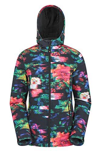 Mountain Warehouse Exodus Wasserabweisende Softshell-Damenjacke - atmungsaktive Regenjacke, länger im Rücken - großartig zum Spazierengehen, Reisen, Wandern, Frühling Gemischt 32