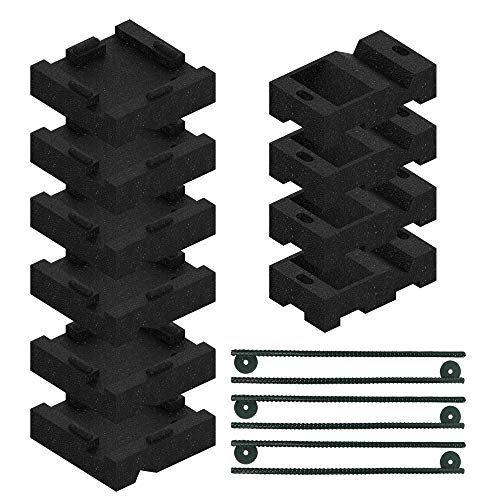 Swing Set Anchor Leveling Kit :: Includes 6 Large Molded Rubber Blocks and 4 Small Molded Rubber Blocks with Stakes and Hardware for Installation