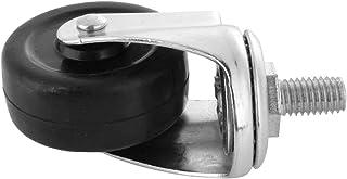 Swivel Caster - 4 stks 2 Inch Swivel Caster Rubber Threaded Stam Roller Wiel voor Trolley Meubels