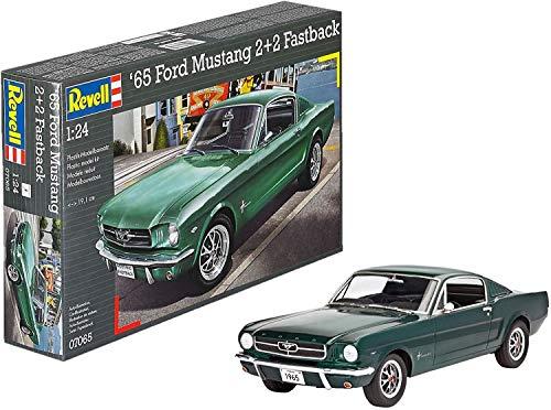 Revell RG7065 Modellbausatz Auto 1:24 - 1965 Ford Mustang 2+2 Fastback im Maßstab 1:24, Level 4, originalgetreue Nachbildung mit vielen Details, 7065