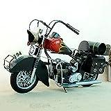 WANGCH Modelo de Motocicleta clásica Todoterreno de Metal/Bar en casa Restaurante Adornos de Bicicleta de Motor Vintage Antiguo/Accesorios de fotografía de Juguete de Motocicleta de aleación estát