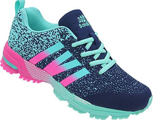 Damen Laufschuhe Sportschuhe Turnschuhe Sneaker Gr-36-41 Art.Nr.258 Navy-blau-Fuchsia (38)