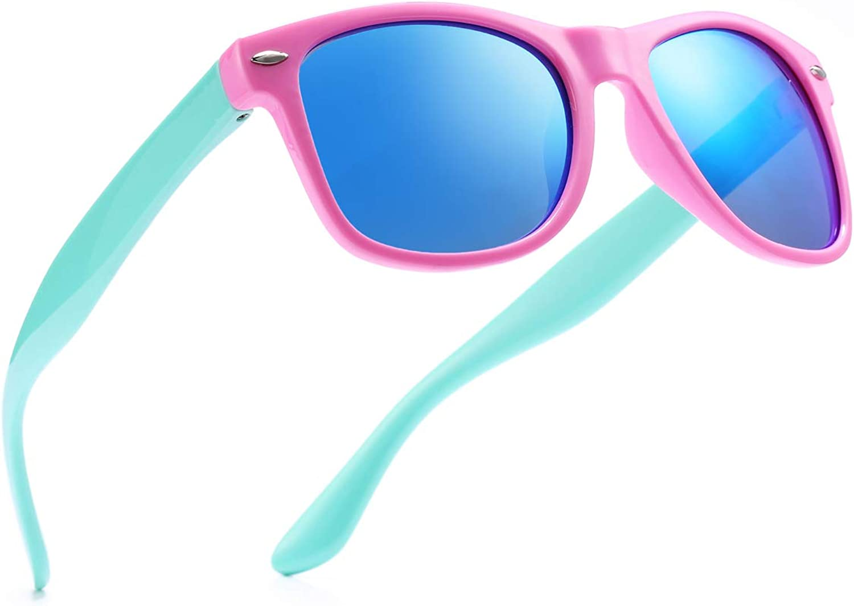 Pro Acme TPEE Rubber Flexible Polarized Wayfarer Sunglasses, 100% UV Predection