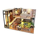 Casa de muñecas DIY Hut Juguetes creativos for niños Modelo arquitectónico romántica nórdica estilo casa de muñecas con las luces Regalo de cumpleaños ( Color : Multi-color , Size : 32x5.5x21cm )