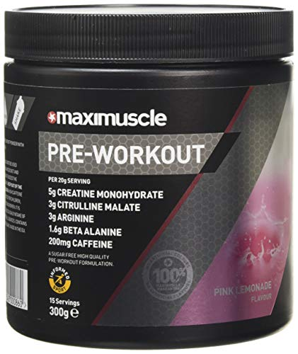 Maximuscle Pre-Workout Pink Lemonade Flavour, 330 g
