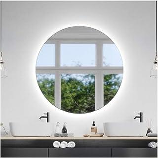 CustomGlass Miroir mural rond avec éclairage LED en différentes dimensions avec forme circulaire (rond 160 cm)