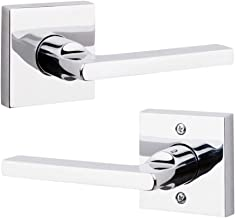 Baldwin PS.SQU.R.CSR.260.6L.DS Square Right-Handed Passage Lever with Contemporary Square Rose, Polished Chrome