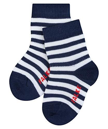 FALKE Unisex Baby Stripe B SO Socken, Blau (Marine 6120), 12-18 Monate (80-92cm)