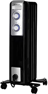 Orbegozo RN 1000 - Radiador de aceite, 5 elementos, 1000 W, luz LED, termostato regulable, recogecables, ruedas pivotantes