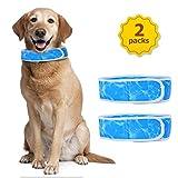 Nobleza - Collar Refrigerante Perro |Paquete de 2|,Collar refrigerante para Mascotas,Cómodo Collares Perro refrescante,Ajustable Dog Cool Keeper,Azul Talla XL,Apto para Cuello de 60cm a 75 cm