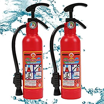 Water Gun for Kids 2 Pack Fire Extinguisher Water Squirt Toys 550CC Super Range Summer Gift for Swimming Pool Beach Outdoor Water Fighting Play Halloween Cosplay Props for Boys Girls Children