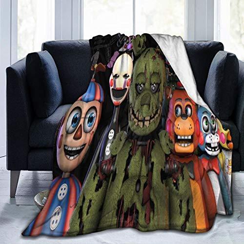 Manta para sofá Five Nights At Freddy's, mezcla de lana, para oficina, para aire acondicionado