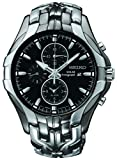Seiko Men's SSC139 Excelsior Gunmetal and Silver-Tone Stainless Steel...