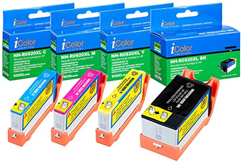 iColor Officejet 7500 A, HP: ColorPack für HP (ersetzt No.920XL BK/C/M/Y) (kompatible Druckerpatronen, HP)