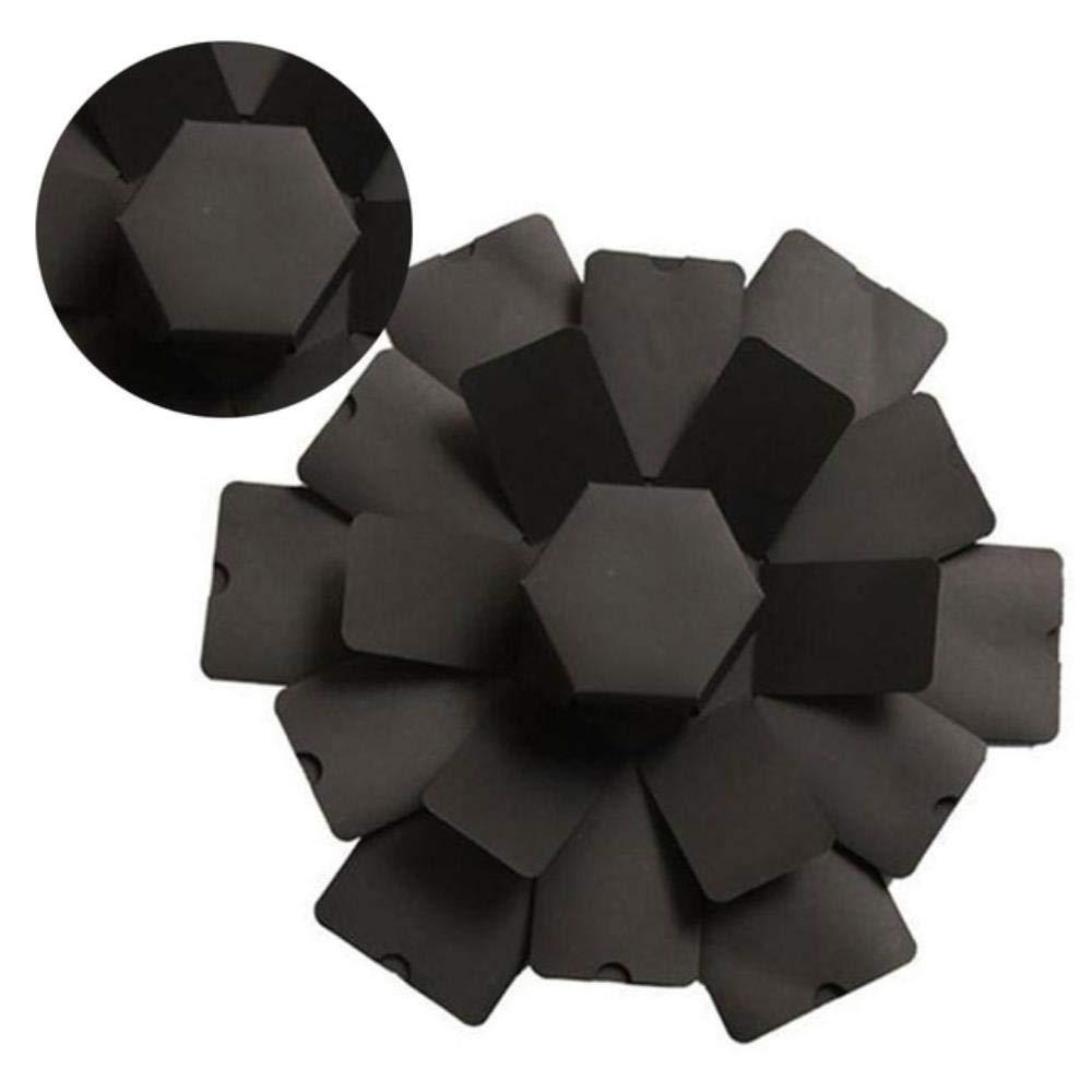 SNJ Caja de explosión Caja de Fotos Hexagonal Hecha a Mano Caja de Regalo Creativa Caja de Regalo de álbum de Fotos DIY Regalo Sorpresa para el día de San Valentín, Negro: