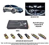 Pack FULL LED intérieur pour Golf 7 (Kit ampoules blanc pur)