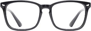 عینک آفتابی شیشه ای TIJN Square Nerd عینک آفتابی Frame Anti Blue Ray Computer Game Glasses
