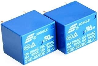 Songle 5 VDC Household Appliance 5 Pin PCB Relay SRD-05VDC-SL-C 2 Pack