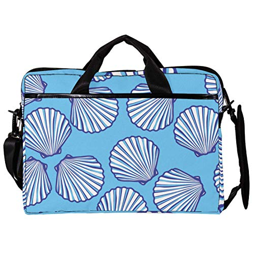 Shell Blue Cpmputer Carrying Case Unique Printed Compatible with 13-13.3 inch MacBook Pro, MacBook Air,Notebook Computer 11x14.5x1.2in