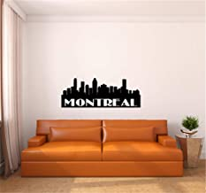 Wall Sticker Family DIY Decor Art Stickers Home Decor Wall Art Montreal City Skyline Wall Decal for Living Room Bedroom