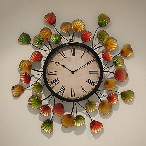 Klokken Decor, 28 '' Metal Muur Clockmerican Land Retro Style Round Iron digitale klok met Glass spiegel niet-Ticking alarm clock