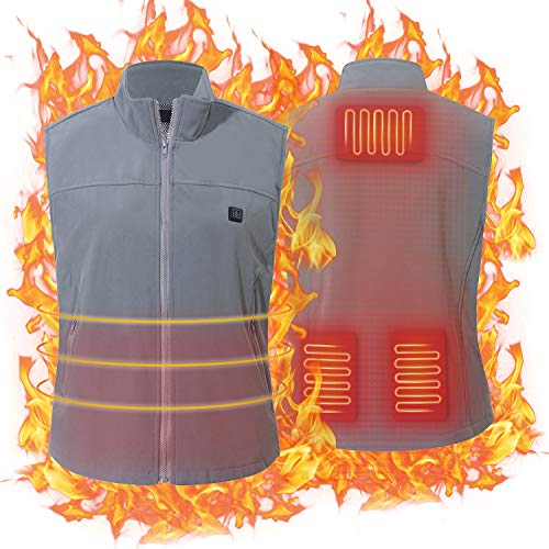 USB Electric Heated Vest by Keymao for Men Women Washable Free-Size Heating Vest Intelligent Clothes Warm Winter Vest