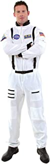 Nasa Astronaut White Suit Adult Mens Costume Aviation Theme Party Halloween