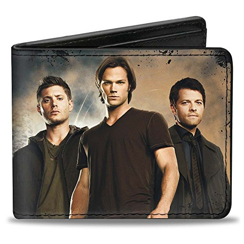 Buckle-Down mens Buckle-down Pu Bifold - Dean, Sam & Castiel Group + Nothing in Our Lives is Simple-supernatur Wallet, Multicolor, 4.0 x 3.5 US