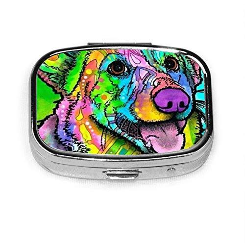 Dog Art Lightweight and Stylish Design Square Pill Box