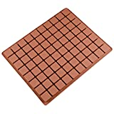 80-Cavity Square Caramel Candy Silicone Molds, Chocolate Truffles Mold, Whiskey Ice Cube Tray, Grid Fondant Hard Candy Mould Pralines Gummy Jelly Mold
