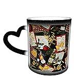 Oaieltj Tazas cambiantes de calor Funny Chef's Choice Collage Personalizado Sensible al Calor Taza de café mágica de cerámica Taza de té de leche