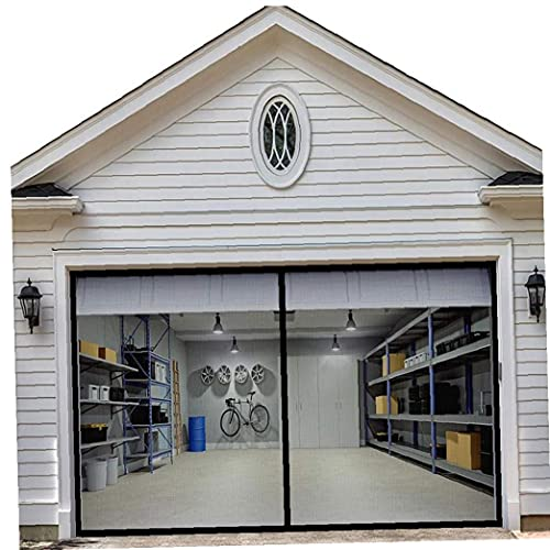 Pantalla de garaje Puerta extraíble de insectos pantalla magnética 200cm 400cm pantalla retráctil, Insecto, Negro, fibra de vidrio retráctil manos libres DIY neto