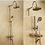 Gowe erstklassige Wandhalterung 20,3cm Rainfall Duschkopf Set Badewanne Auslauf Dusche Drehstuhl Wasserhahn Dual Griffe mit Handbrause