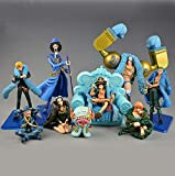 GYINK 9 Family One Piece Figure MuscularFranky20Th Anniversary Ver.Girl RobinNamiLuffySeat Col...